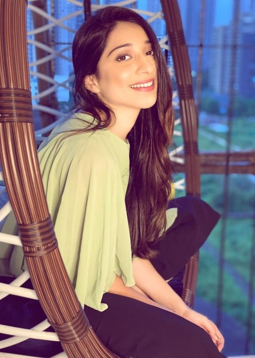 Vrushika Mehta as seen while smiling for a picture in November 2020