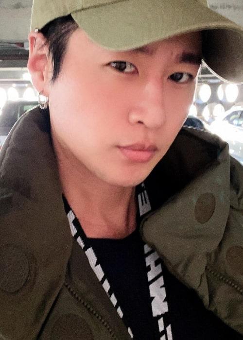 Zach Choi as seen in a selfie that was taken in January 2021