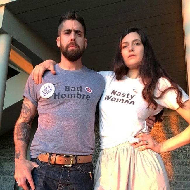 Adam Goldberg and Roxanne Daner in November 2020