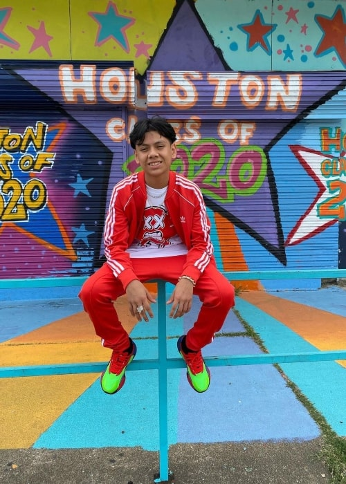 Adonis Martinez as seen in a picture that was taken in Downtown Houston in July 2020