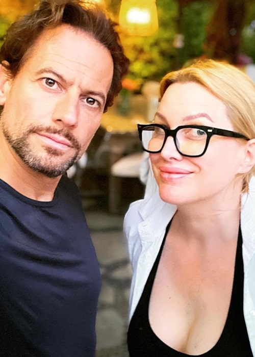 Alice Evans and Ioan Gruffudd, as seen in August 2020