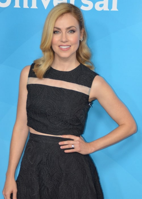 Amanda Schull pictured at the 2015 Television Critics Association's Press Tour (TCA2015) for the NBC Universal TV at The Langham Huntington Hotel in Pasadena, California