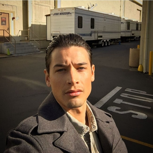 Andrew Gray as seen while taking a selfie at Paramount Studios in January 2020