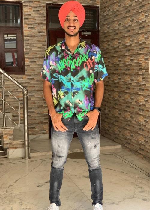 Arshdeep Singh as seen in an Instagram Post in November 2020