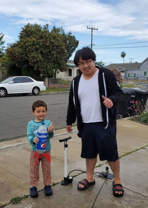Asian Andy as seen in a picture that was taken with his nephew in April 2020