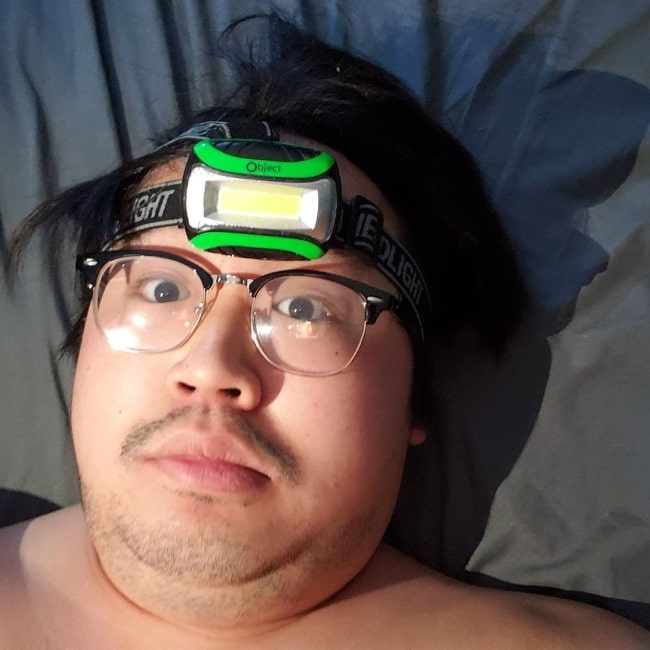 Asian Andy as seen in a selfie that was taken in April 2020