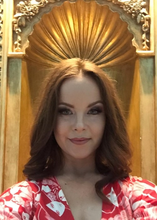 Aviva Baumann as seen while taking a selfie at Eldorado Hotel & Spa in February 2019