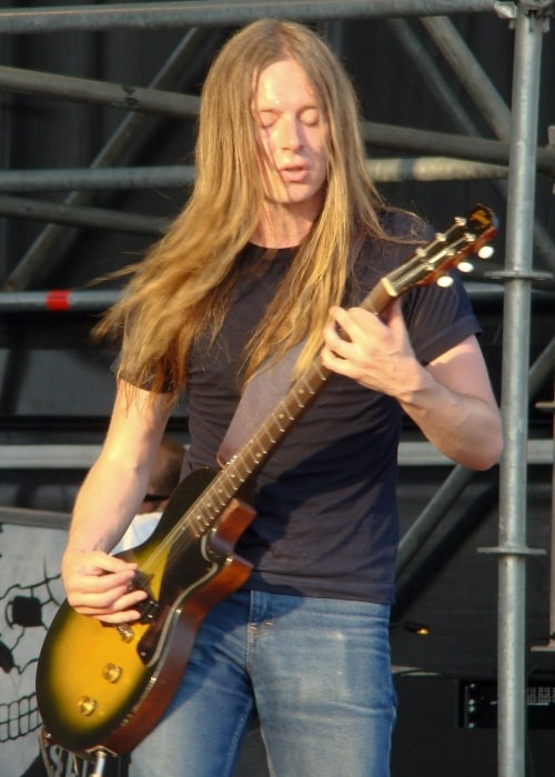 Bill Steer as seen in a picture that was taken during his performance with Carcass at Gods of Metal festival in Bologna, Italy on June 28, 2008