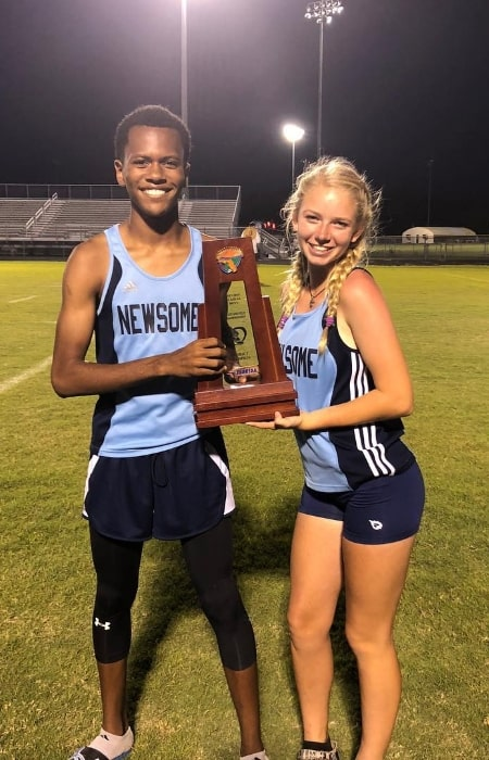 C.j112 and Carolyn Cable at Spoto High School in April 2018