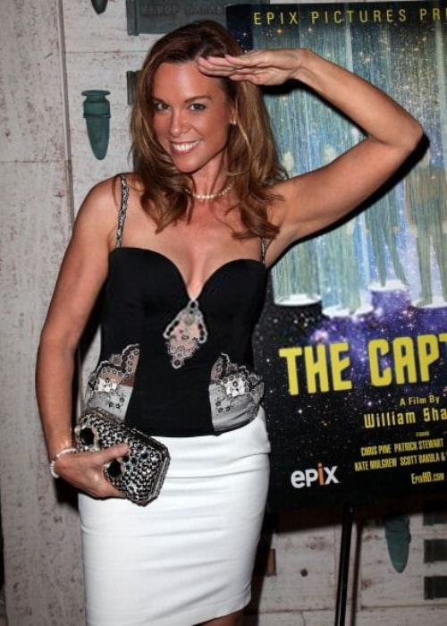 Chase Masterson at the premiere of 'The Captains' in July 2011