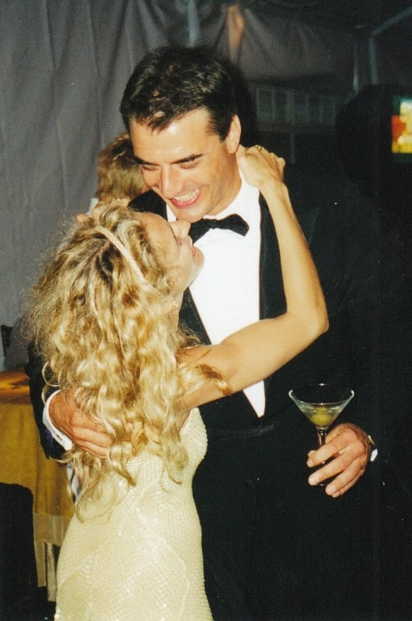 Chris Noth and Sarah Jessica Parker at the HBO party after the 1999 Emmy Awards