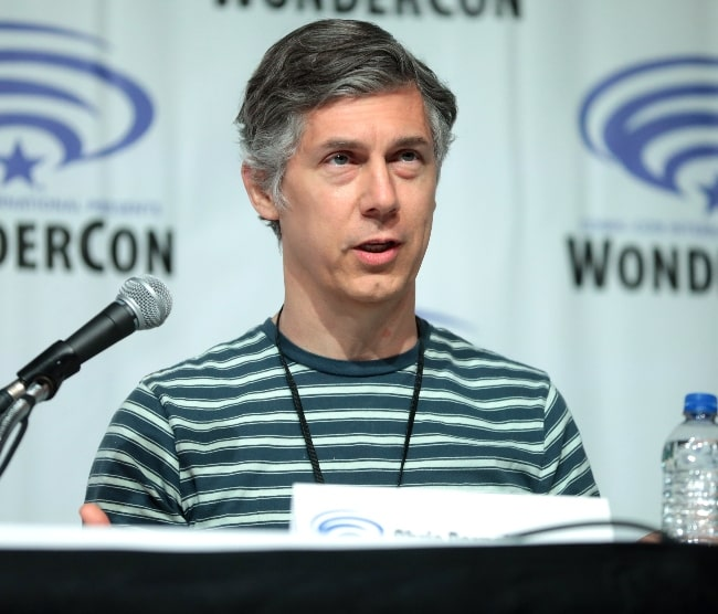 Chris Parnell as seen while speaking at the 2019 WonderCon, for Archer, at the Anaheim Convention Center in Anaheim, California