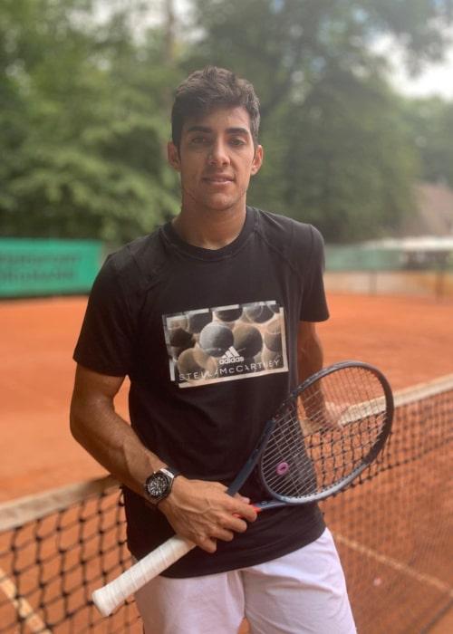 Cristian Garín as seen in an Instagram Post in July 2019