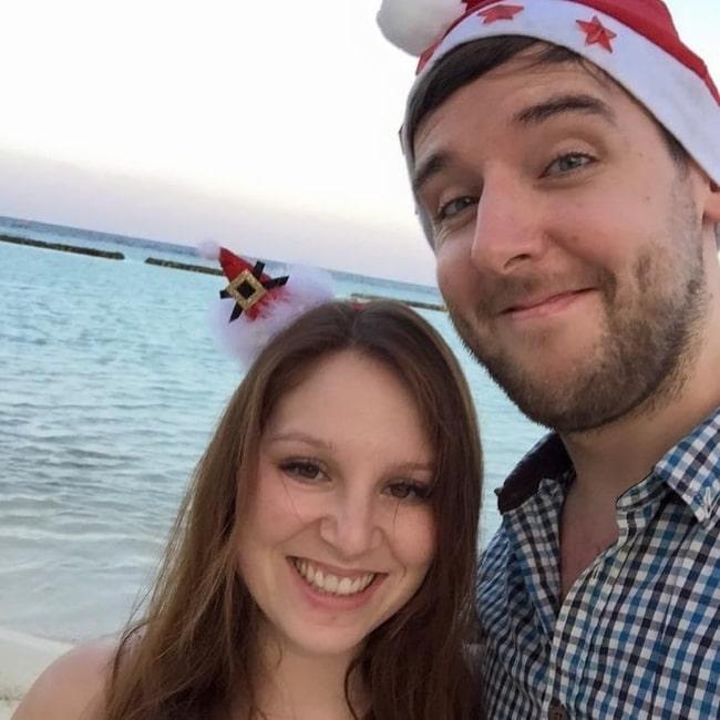Daniel Wilding as seen in a selfie that was taken with his wife Lianna in December 2020