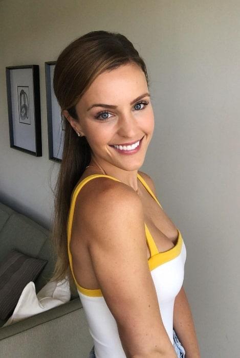 Elle Bielfeldt smiling for the camera in Los Angeles, California in June 2019