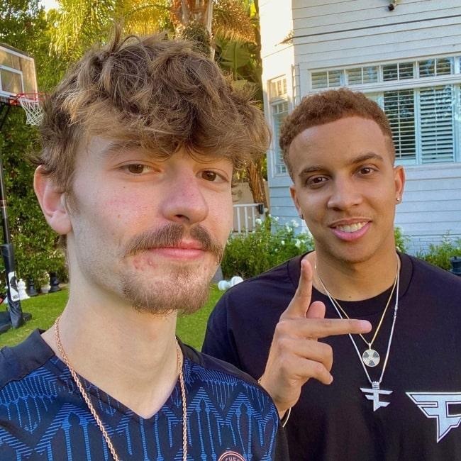 FaZe Blaze as seen in a selfie with his homie FaZe Swagg that was taken in August 2020