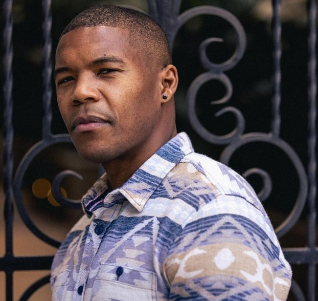 Gaius Charles as seen while posing for the camera in Los Angeles, California in December 2020