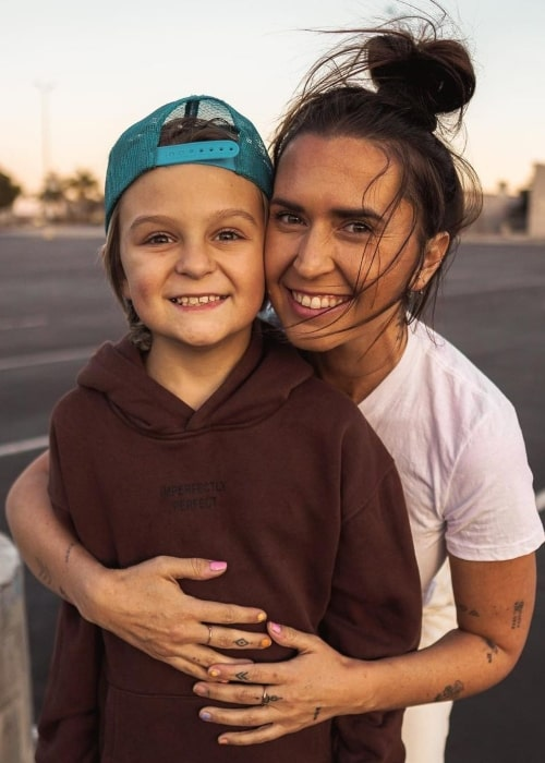 Hannah Slyfox as seen in a picture that was taken with her son Caspian Slyfox in February 2021
