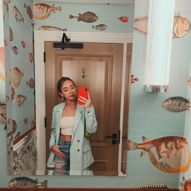 Holly Taylor gone fishing in August 2019