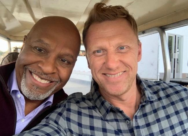 James Pickens Jr. as seen in a selfie with Kevin McKidd