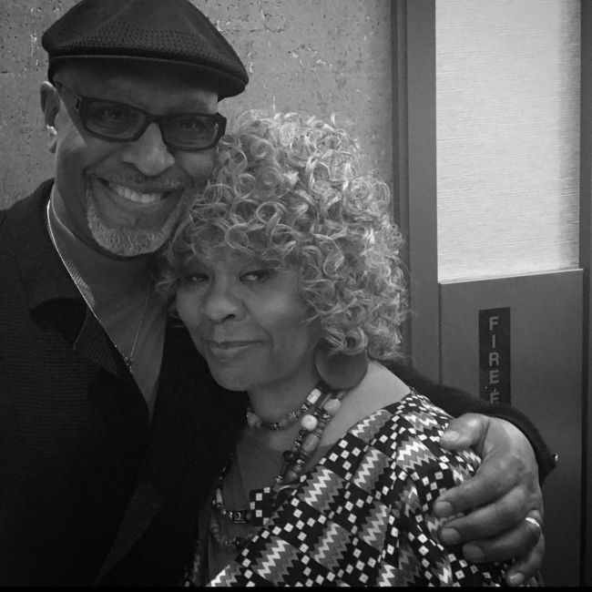 James Pickens Jr. as seen with his wife on New Year's Day in 2021