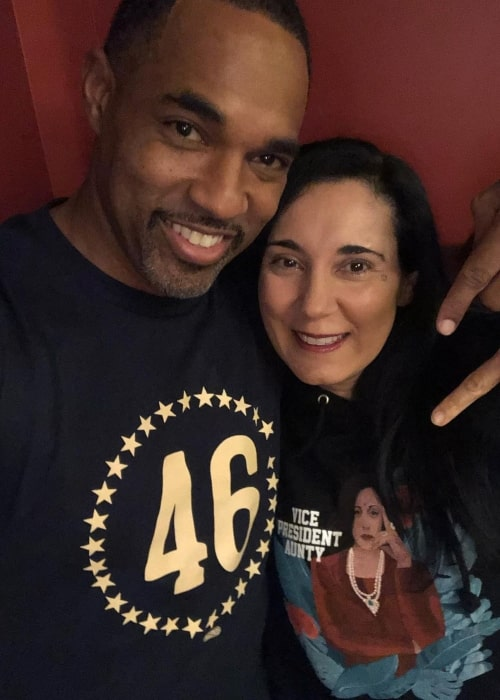 Jason George and Vandana Khanna as seen in a picture that was taken in January 2021