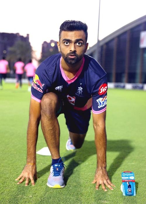 Jaydev Unadkat as seen in an Instagram Post in September 2020