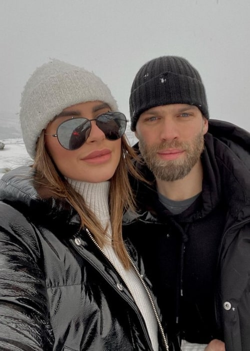 Jessica Shears as seen in a selfie that was taken with her husband Dominic Lever January 2021