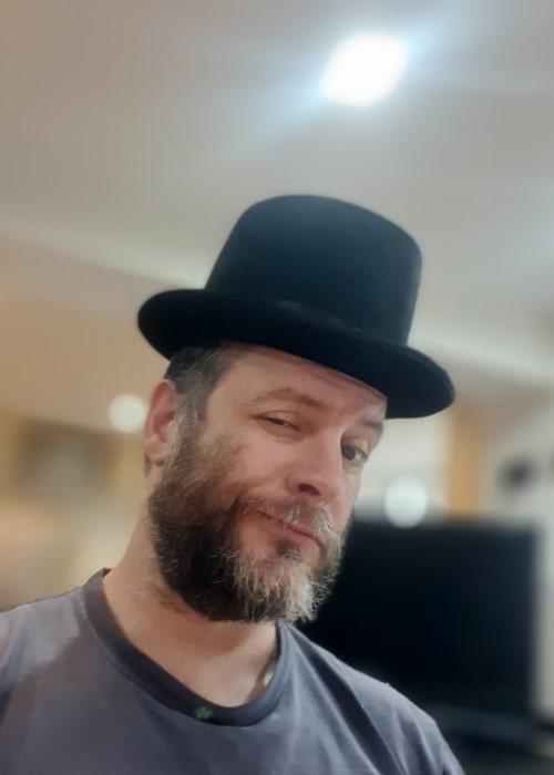 Jonti Picking as seen in a selfie that was taken in April 2020