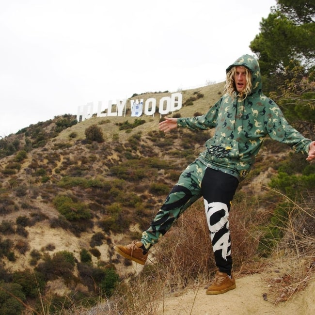 JoogSquad as seen in a picture that was taken at the Hollywood Sign in Los Angeles in February 2021