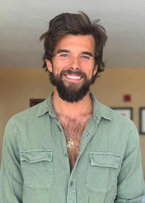 Josh Swickard as seen while smiling for the camera in July 2020
