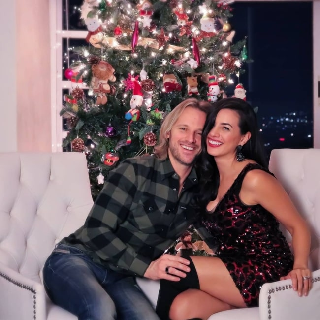 Kary Correa and her beau Nicolas Mele as seen in a picture that was taken in December 2020