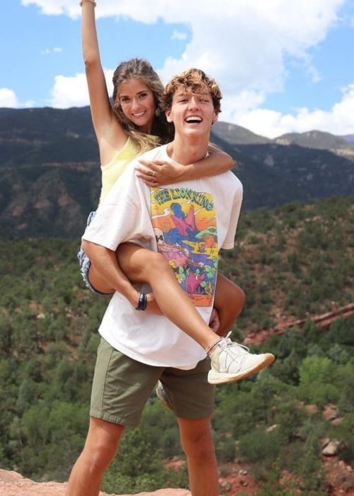 Kate Cadogan as seen in a picture with Judah Keyes that was taken at the Garden of the Gods in July 2020