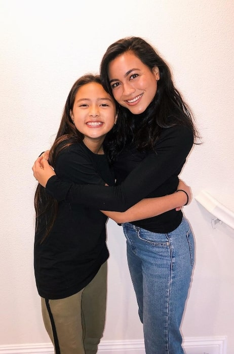 Lindsay Watson (Right) and Kea Peahu smiling for the camera in Los Angeles, California in November 2019