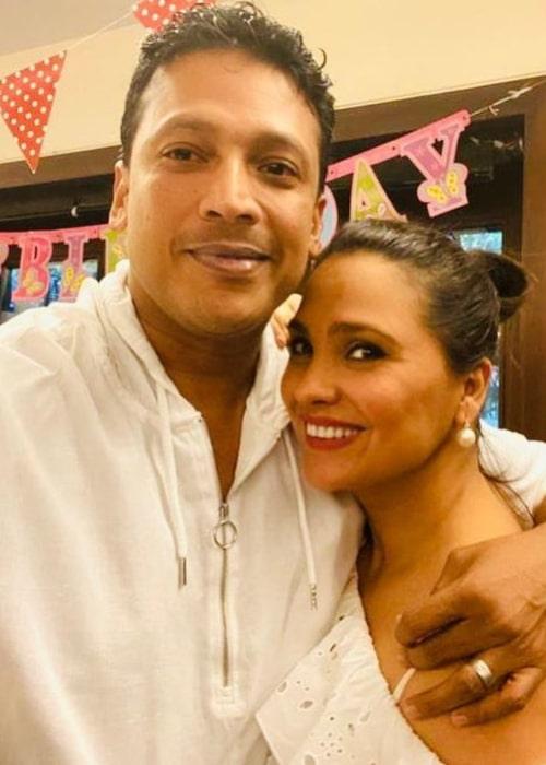 Mahesh Bhupathi and Lara Dutta, as seen in April 2020