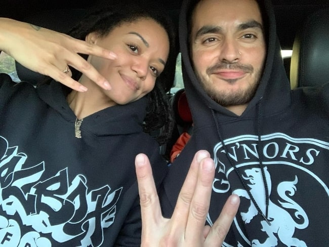 Manny Montana and his wife Adelfa Marr as seen in an Instagram post in February 2020