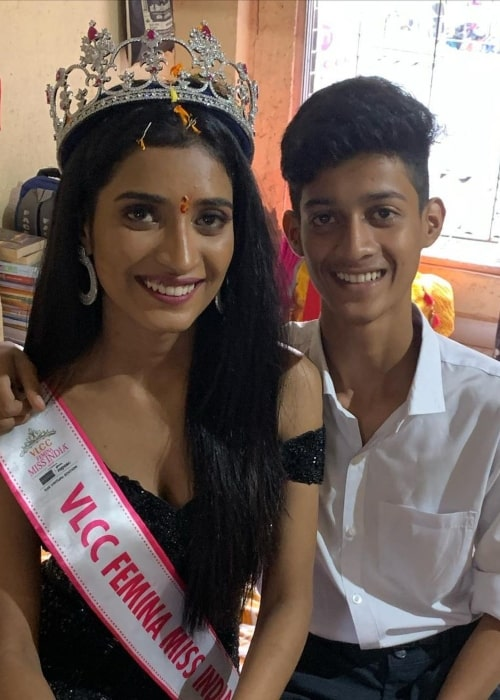 Manya Singh and her brother Aman Singh in picture that was taken in February 2021