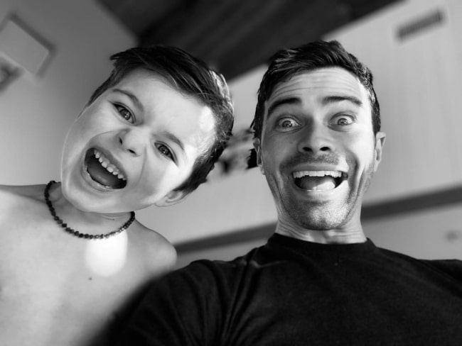 Matt Cohen with his kid in December 2020 telling him he wants to be just like him when he manages to grow up