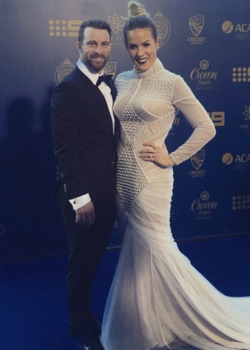 Matthew Wade and Julia Barry, as seen in January 2017