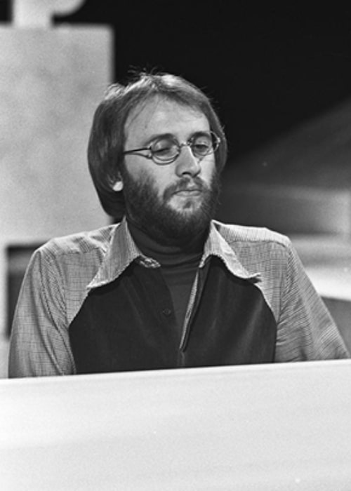Maurice Gibb pictured while performing in 1973