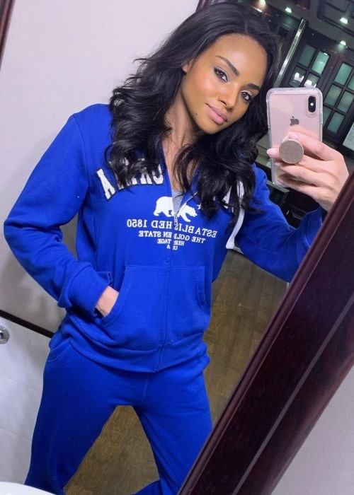Meagan Tandy as seen in a selfie that was taken in Vancouver, British Columbia in February 2020