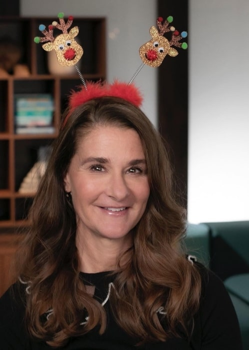 Melinda Gates in December 2020 suggesting everyone to ask her reindeers which holiday is her absolute favorite