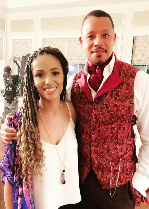 Meta Golding and Terrence Dashon Howard as seen in an Instagram post in November 2019