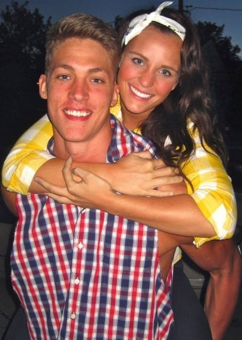 Meyers Leonard and Elle Leonard as seen while smiling for the camera