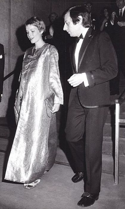 Mia Farrow and André Previn as seen in 1969