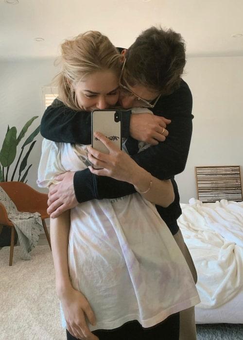 Michelle Randolph as seen while taking a mirror selfie with Gregg Sulkin in January 2021