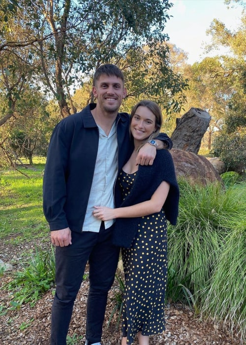 Mitchell Marsh and Greta Mack, as seen in July 2020