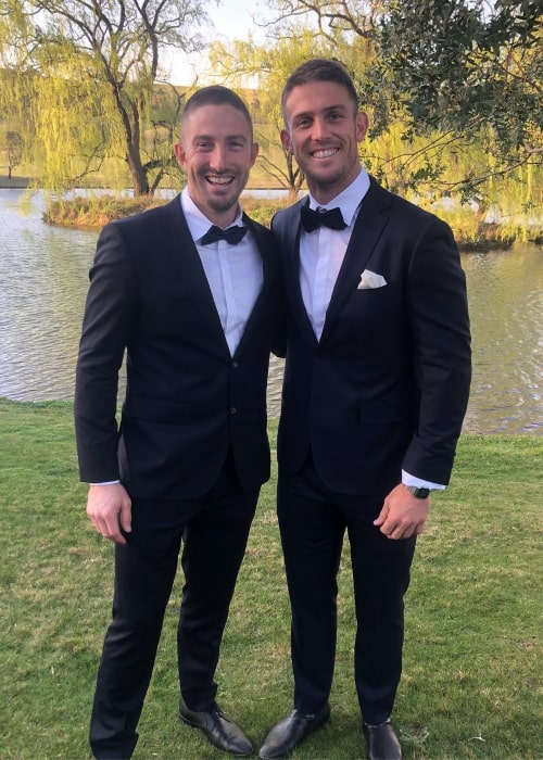 Mitchell Marsh with his brother Shaun, as seen in September 2018