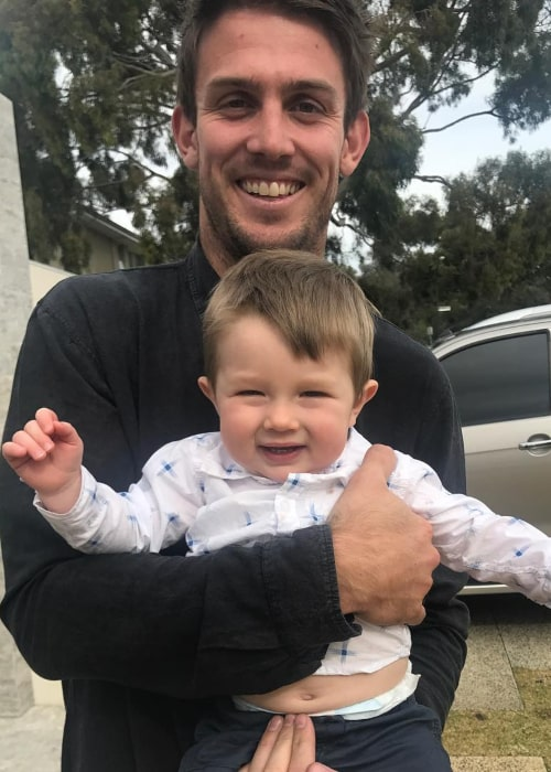 Mitchell Marsh with his nephew Austin, as seen in June 2017