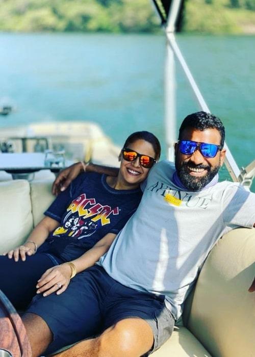 Mona Singh and Shyam Rajagopalan in January 2021